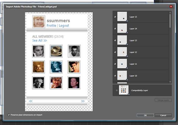 Full importer screen from Blend 3