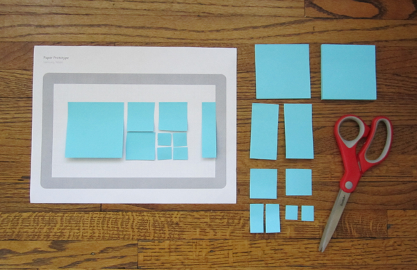 Post-it Notes for Prototyping Proportion